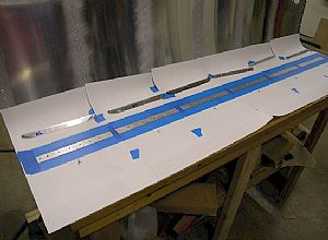 Getting ready for riveting the stiffeners