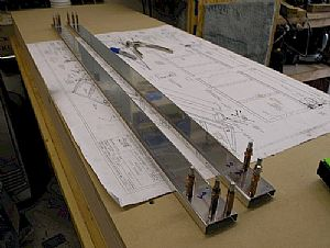 Clecoed the A-908 reinforcing plates to the A-903 spars