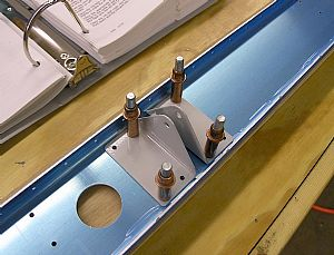Clecoed on the HS-912 Outboard Hinge Brackets and match drilled the holes