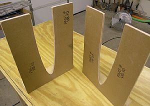 Cut out the jig cradle blocks provided with the kit
