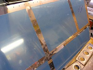 Removed the blue plastic film on the left Horizontal Stabilizer skin