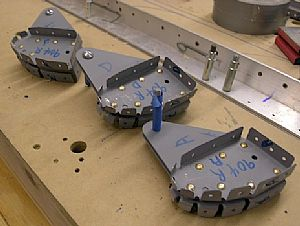 Riveted the hinge assemblies together on the right flap